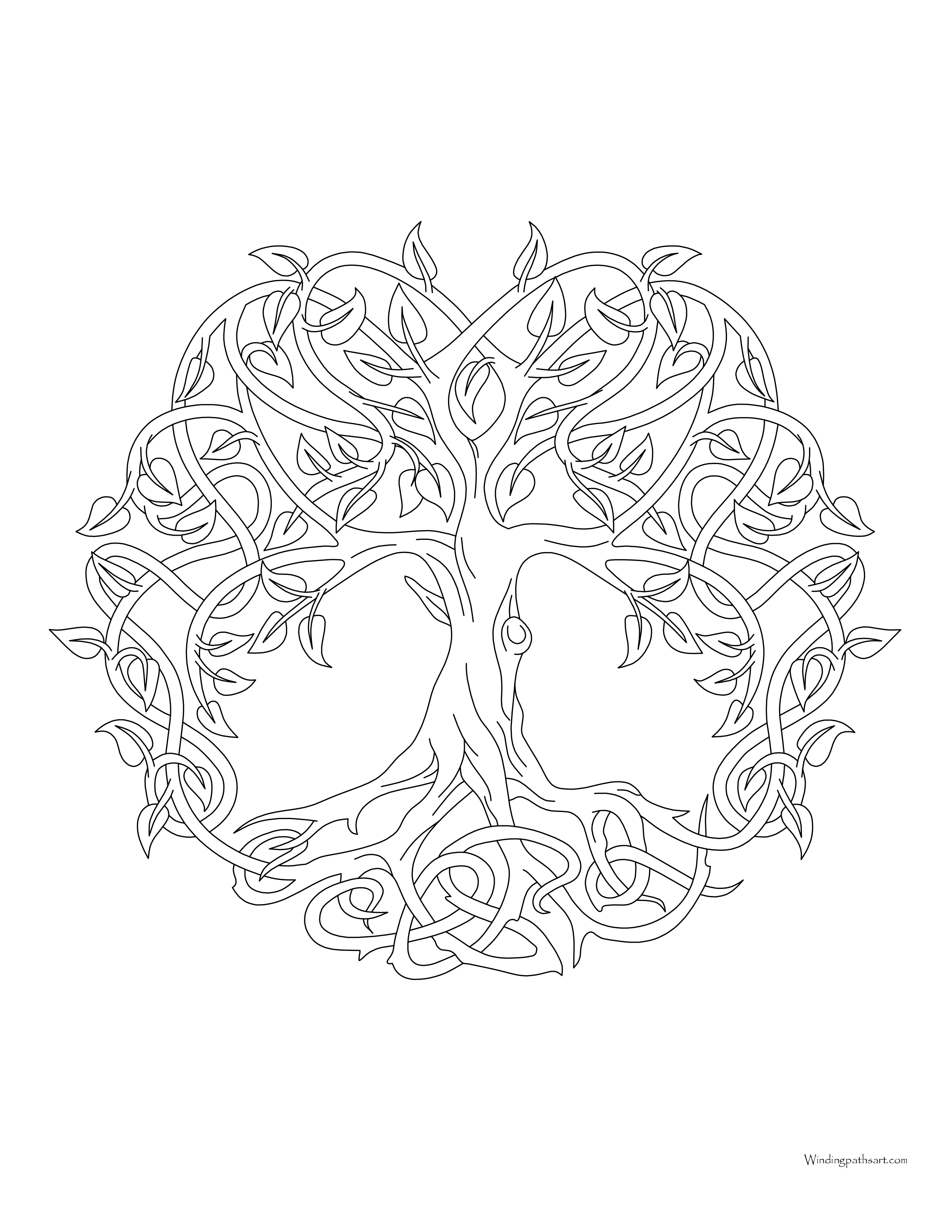 Tree of life coloring page Archives Windingpathsartcom