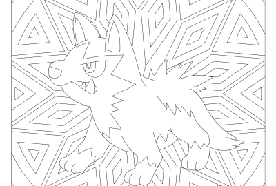 Pokemon coloring page archives page 5 of 35 for Poochyena coloring pages
