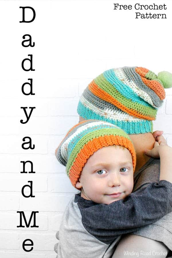 Daddy And Me Slouch Beanie Winding Road Crochet