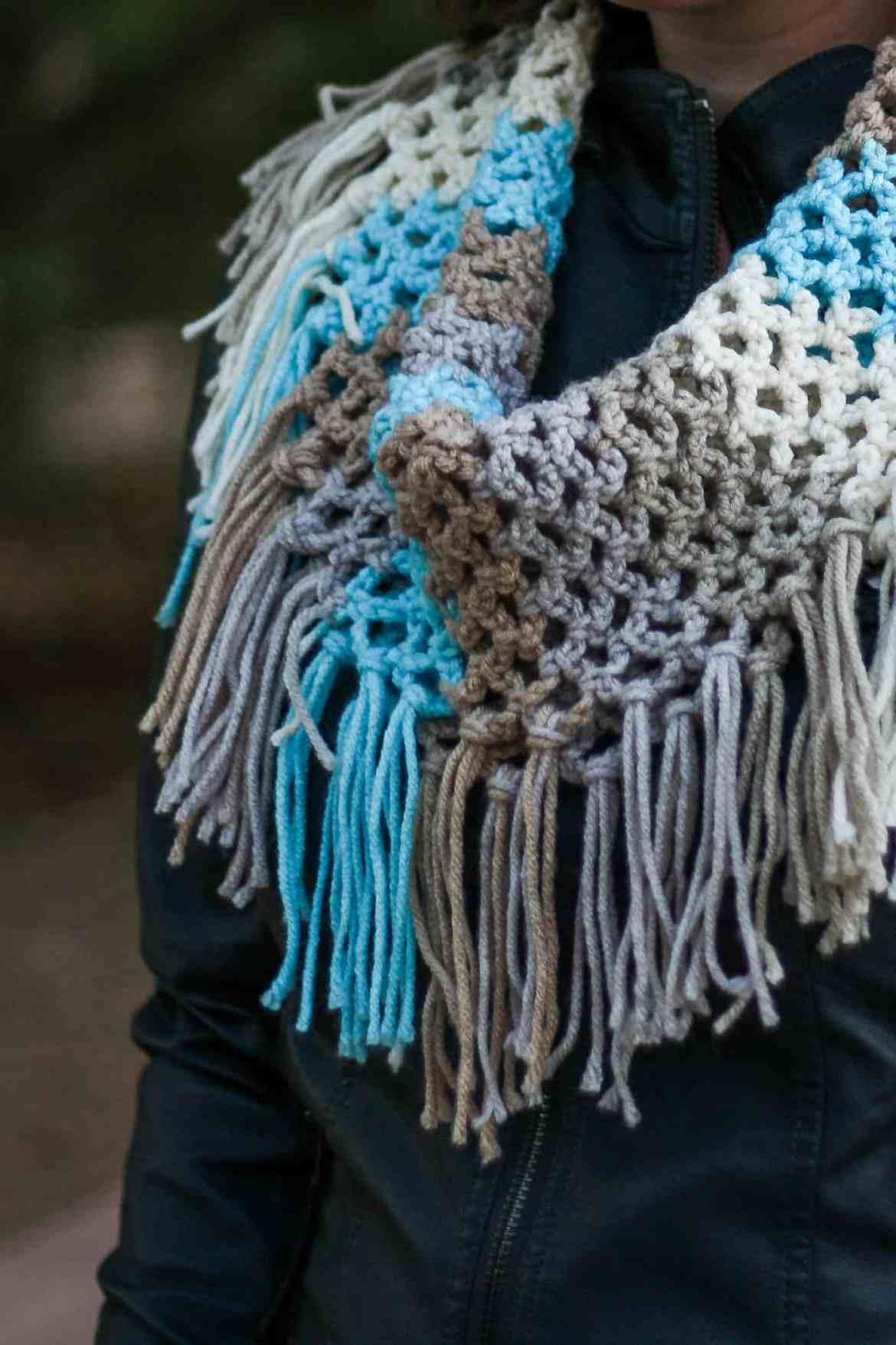 Spring Fringe Cowl Free Crochet Pattern Winding Road Crochet