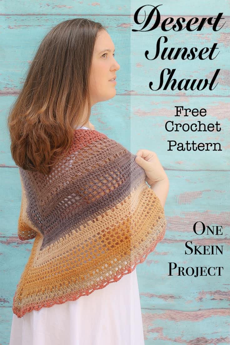 Desert Sunset Shawl Free Crochet Pattern Winding Road Crochet