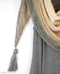 My First Triangle Shawl Free Crochet Pattern - Winding ...