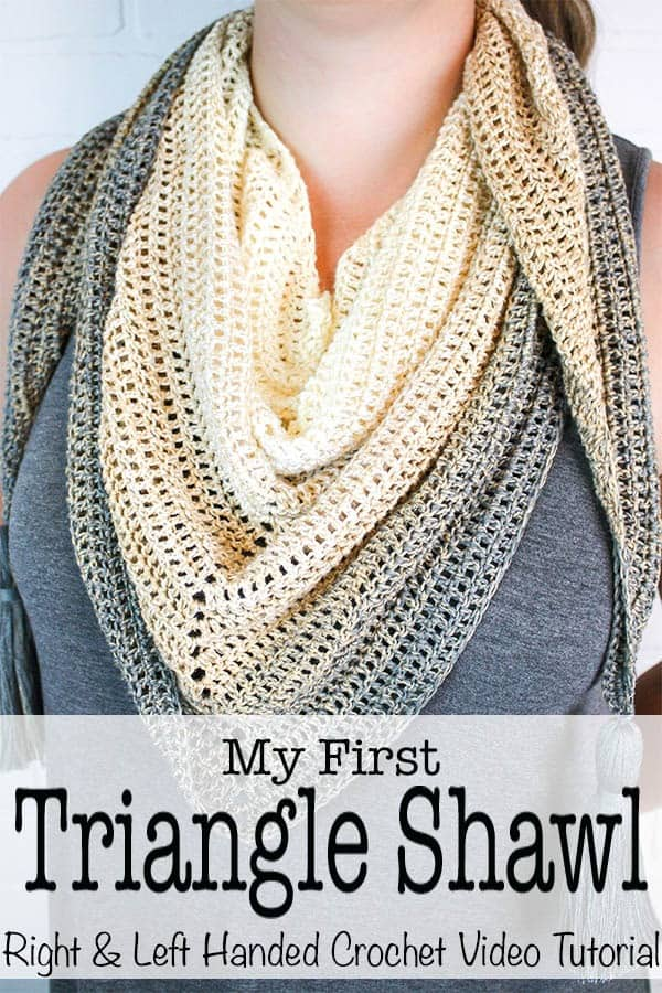 My First Triangle Shawl - Left & Right Hand Video Tutorial