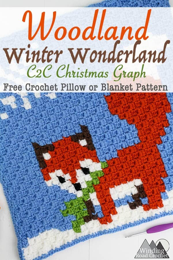Winter Fox C2c Square Graph Winding Road Crochet