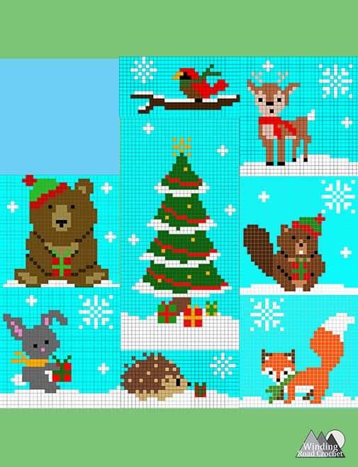 Little Critters Crochet C2C Graphs - Winding Road Crochet