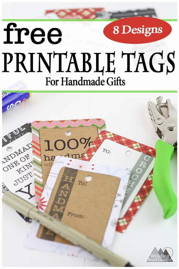 picture regarding Printable Gifts known as Printable Reward Tags for Home made Presents - Winding Street Crochet