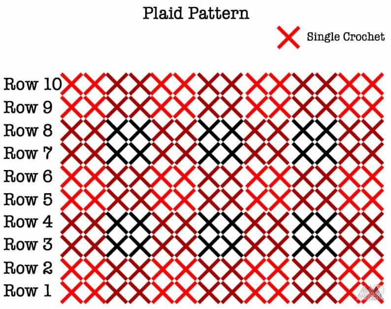 How to crochet a chunky plaid bun beanie.