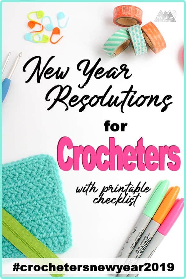 Looking for some New Year's Resolutions you can stick with? Read about the perfect new Year Resolutions for crocheters. These are resolutions you can stitch to like making something for yourself, or learning a new crochet stitch. #crochet