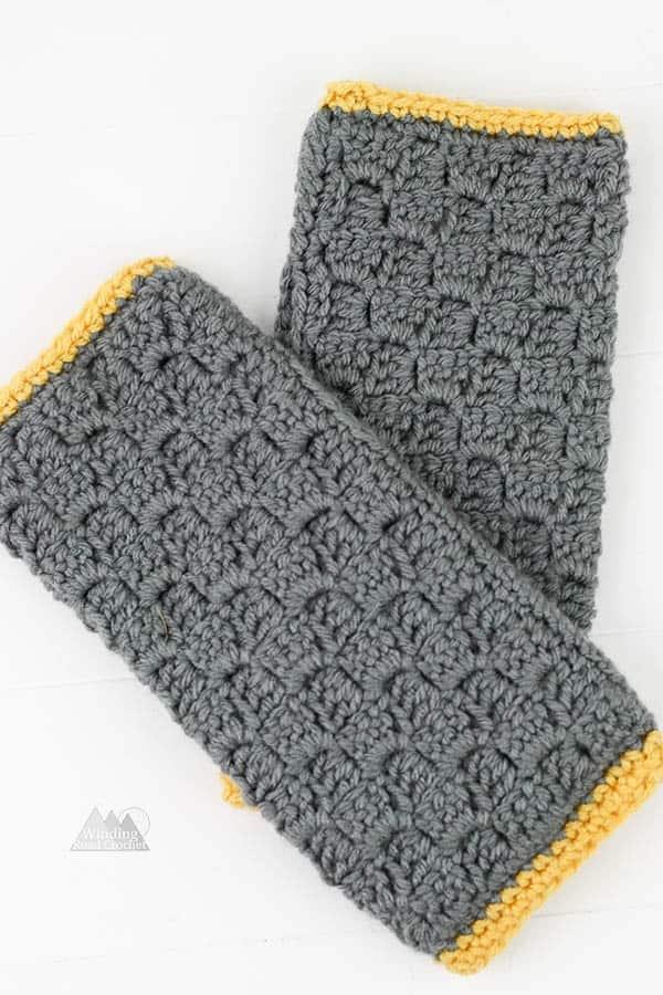 C2C Fingerless Gloves Crochet Pattern - Winding Road Crochet