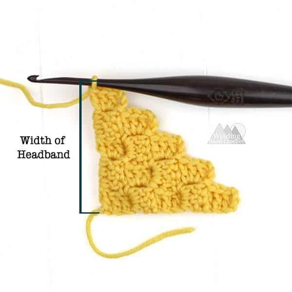 textured crochet headband