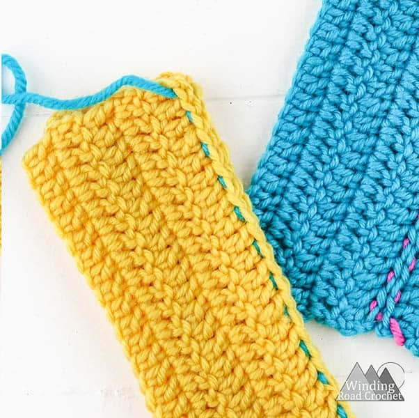 How to Sew Crochet Pieces Together - Winding Road Crochet