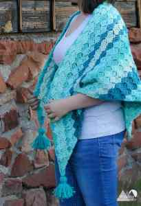 c2c winter shawl free crochet pattern - corner to corner crochet