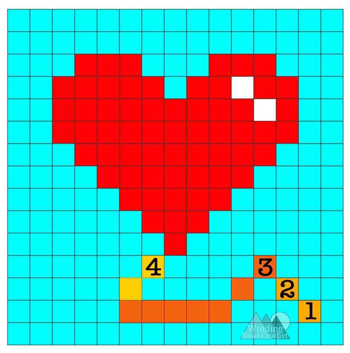 Heart Balloon C2C Graph