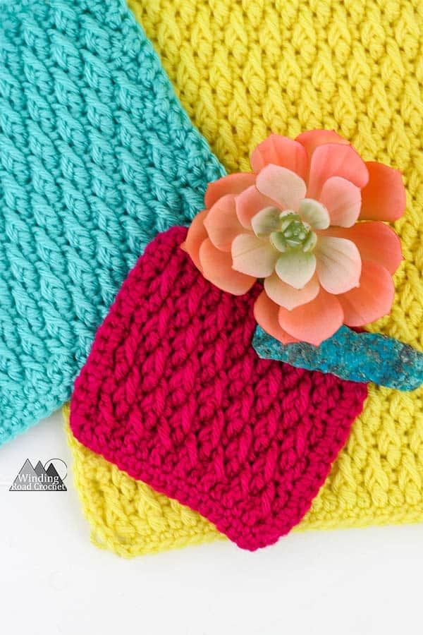 Alpine Stitch Crochet Tutorial Winding Road Crochet