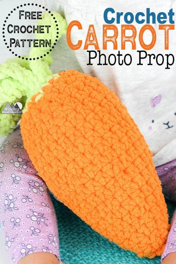Crochet Carrot Photo Prop Free Pattern Winding Road Crochet