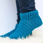 How To Crochet Slipper Socks In An Hour Or Less Winding Road Crochet