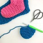 How To Crochet Slipper Socks In An Hour Or Less Winding Road Crochet