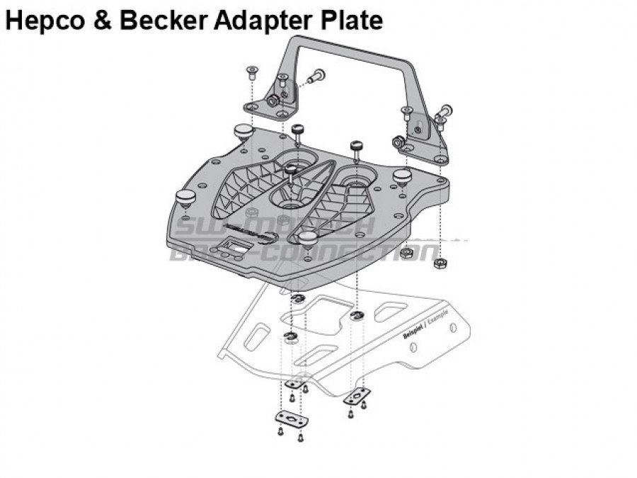 Top Case Adapter Plate for Alu Rack from SW-Motech