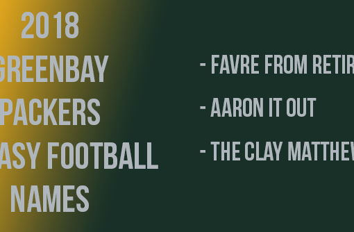 Green Bay Packers Fantasy Football Names