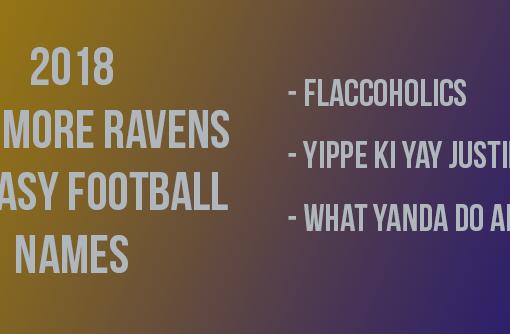 Baltimore Ravens Fantasy Football Names