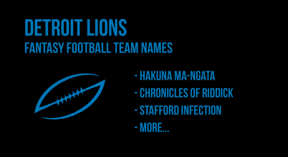 Detroit Lions fantasy football team names