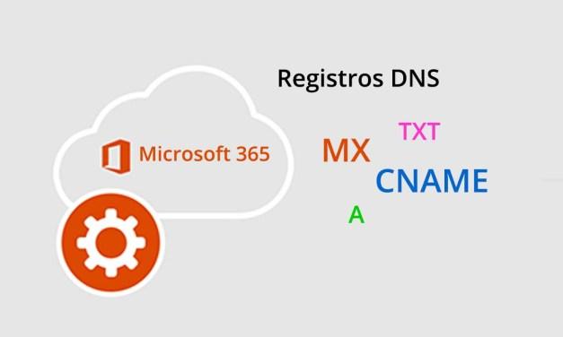 Los registros DNS de Microsoft 365