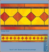 Reno Stained Glass Decorative Window Film Accent Borders