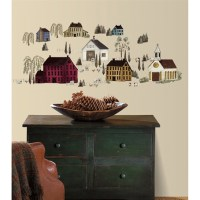 Country Scenic Barns & Houses Wall Stickers