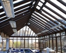 Silver 20 window film on conservatory roof