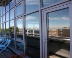 solar control window film veiwed from the outside