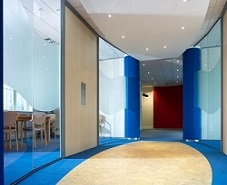 vinyl frost office partition glass
