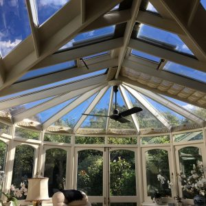 Conservatory roof window film