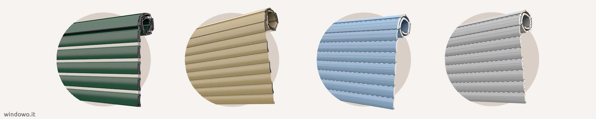 Tapparella avvolgibile in alluminio coibentato ad alta densità · gomma · alluminio estruso € 6,99 · nessuno · in basso € 17,40 · a metà altezza € 17,40 · in alto € 17. Tapparelle In Alluminio Coibentato Prezzi Online Windowo