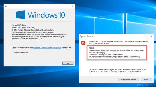 Windows Fehlercode