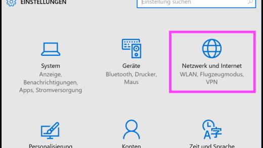 Windows 10 Netzwerk