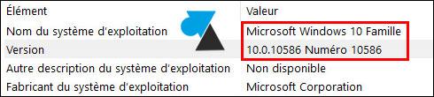 w10 information systeme - Quelle version du système d'exploitation Windows de mon ordinateur