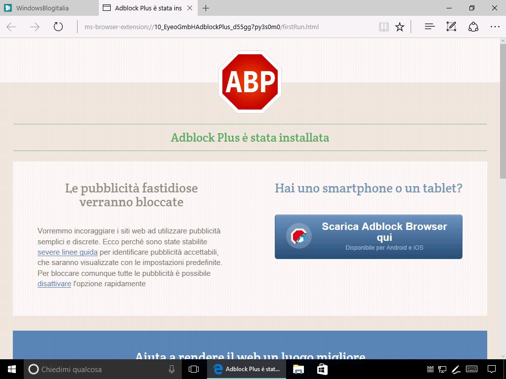 Download AdBlock e AdBlock Plus per Microsoft Edge