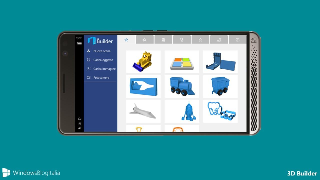 Download di 3D Builder per Windows 10 Mobile e Xbox