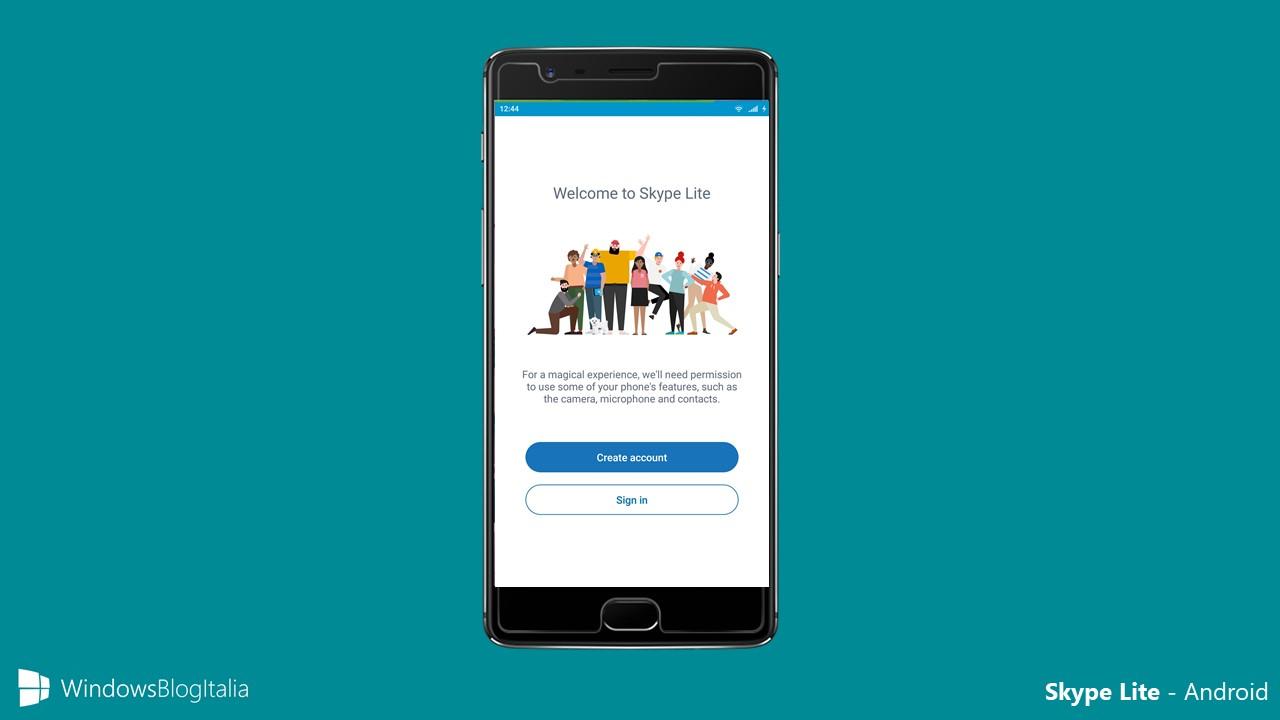 Skype Lite su Android