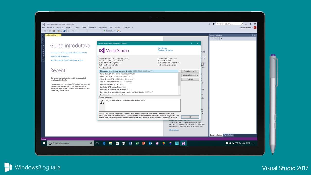 Download Visual Studio 2017. disponibile per gli sviluppatori la versione definitiva