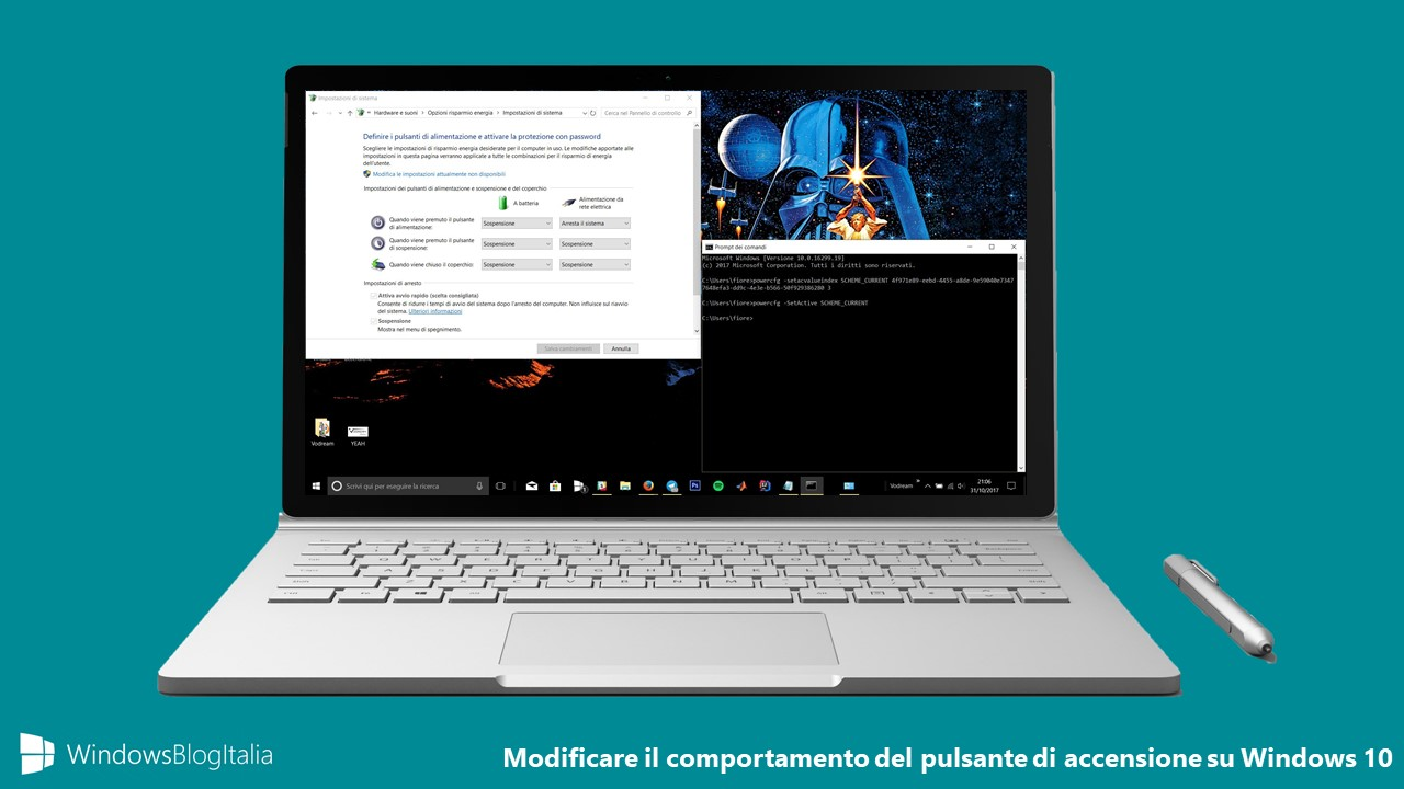Tasto di accensione Windows 10
