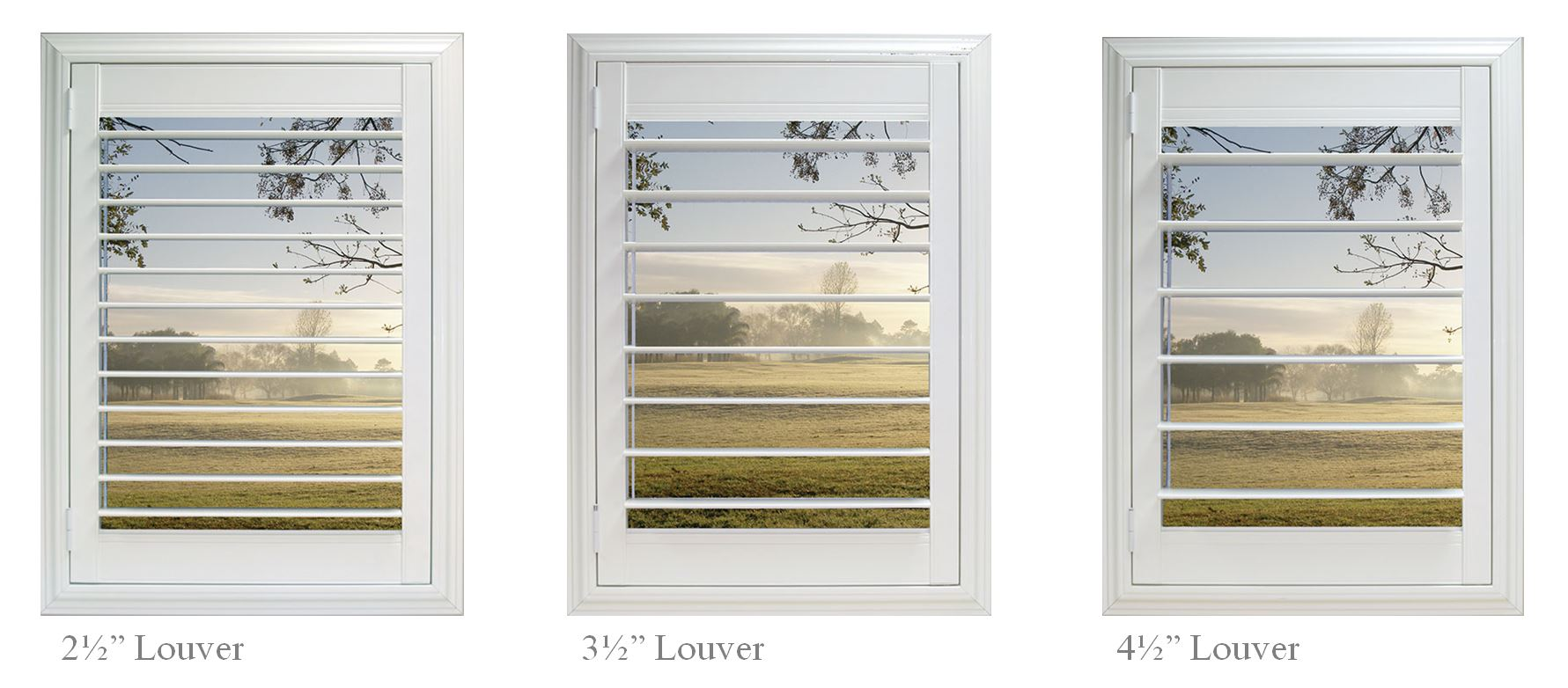 Plantation Shutters Window Scenes