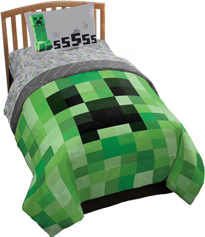 Minecraft Creeper Twin Bed Set Reco Image