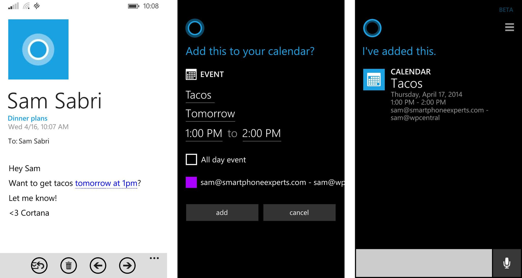 Manually Add Flight Info To Cortana