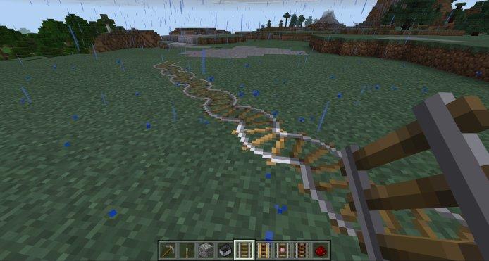 Diagonal track