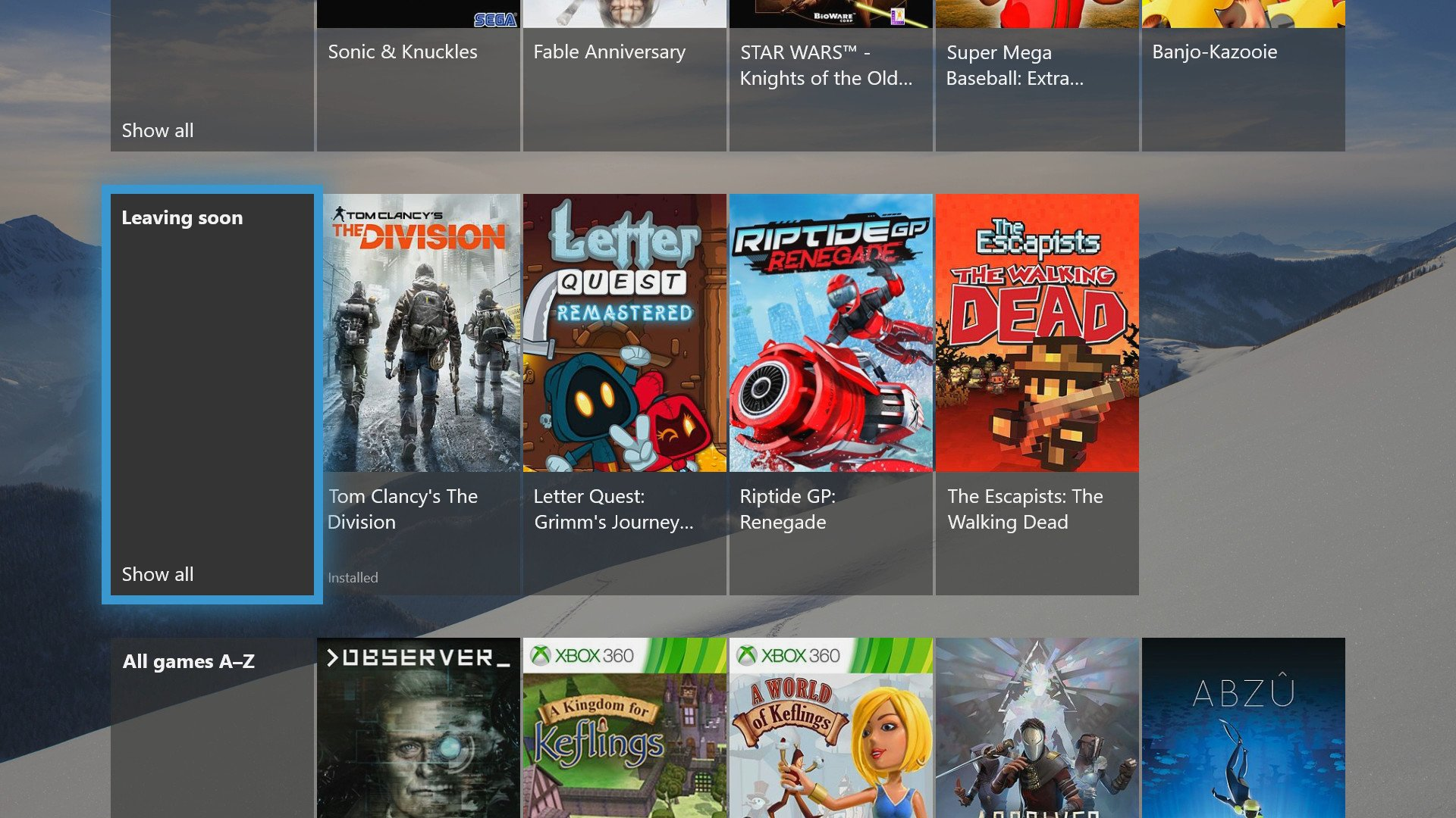 The Division Letter Quest And More Leave Xbox Game Pass