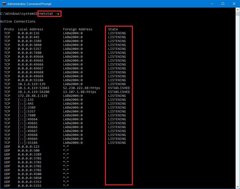 How to use netstat command on Windows 10 - technet360.com