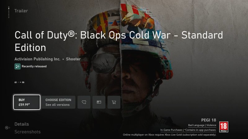 Call Of Duty Black Ops Cold War Microsoft Store
