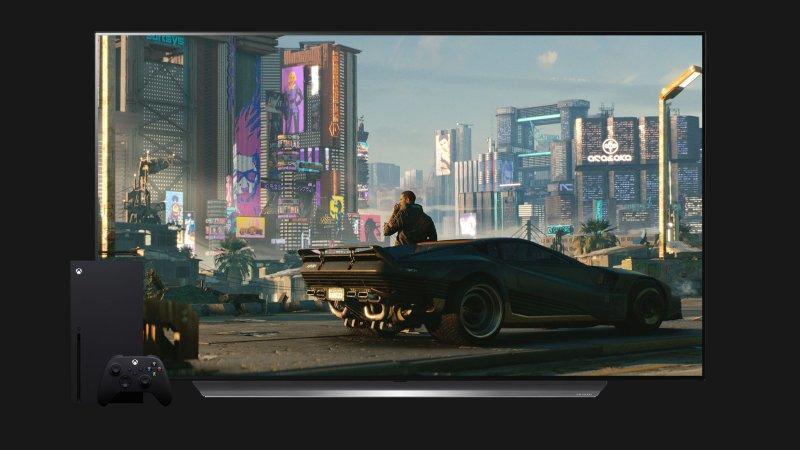 Xbox Series X TV Cyberpunk 2077 Thin