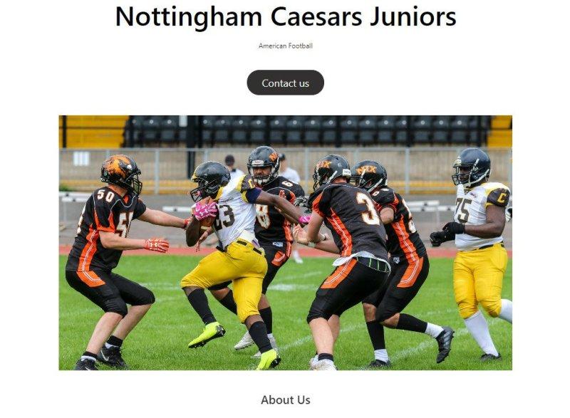 Caeasrs Juniors Website Builder
